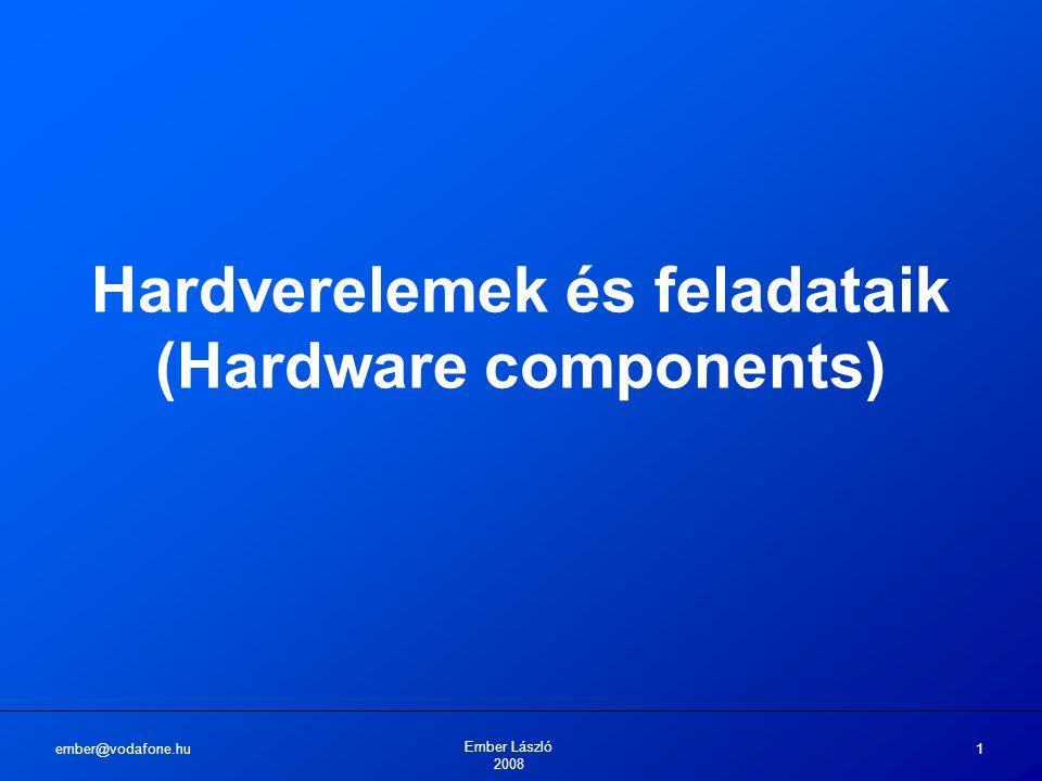 ember@vodafone.hu Ember László 2008 1 Hardverelemek és feladataik (Hardware components)