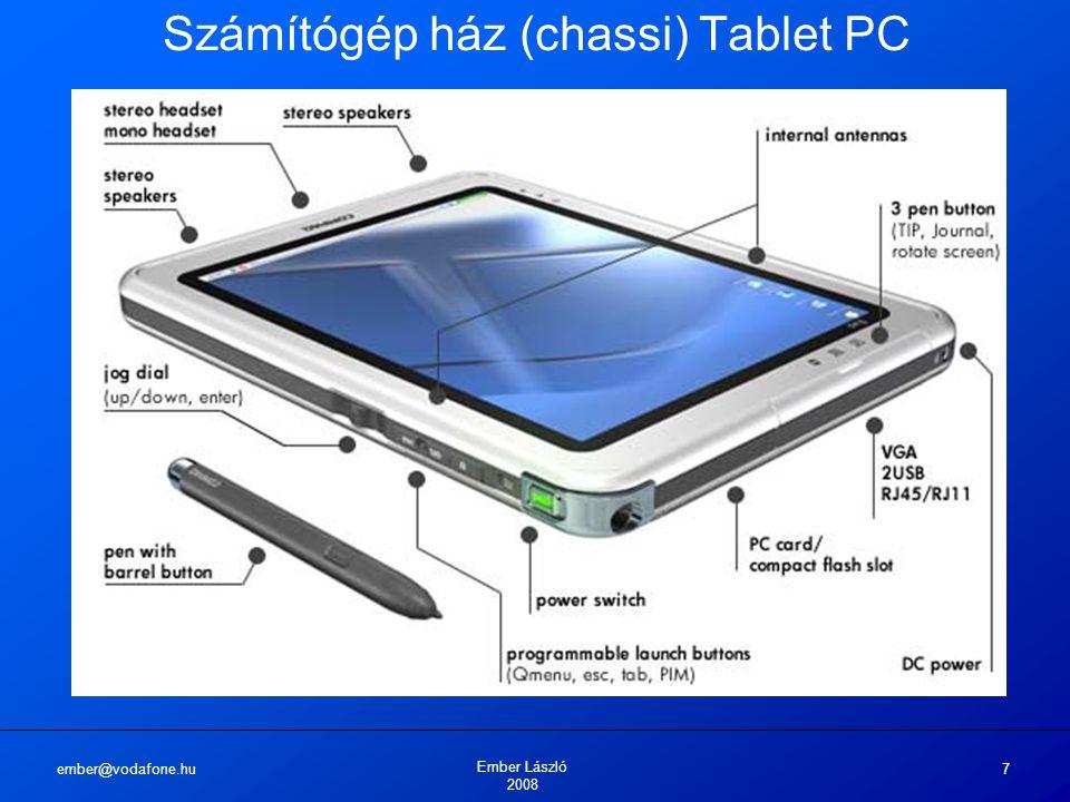 ember@vodafone.hu Ember László 2008 7 Számítógép ház (chassi) Tablet PC
