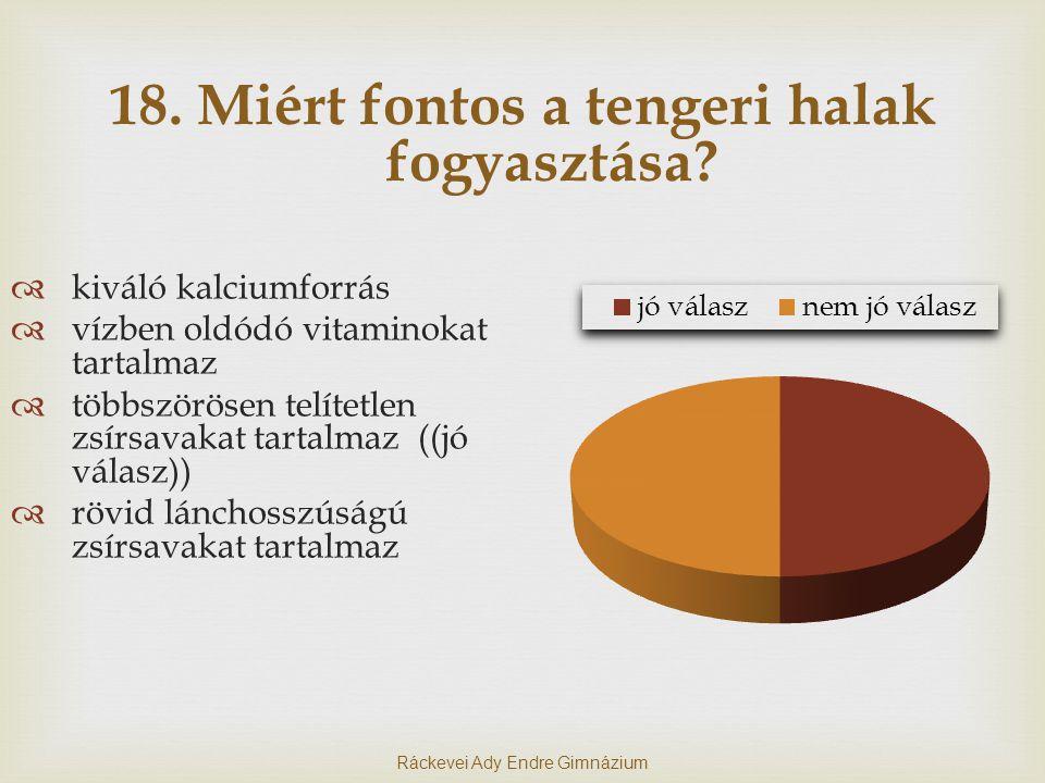 18.Miért fontos a tengeri halak fogyasztása.