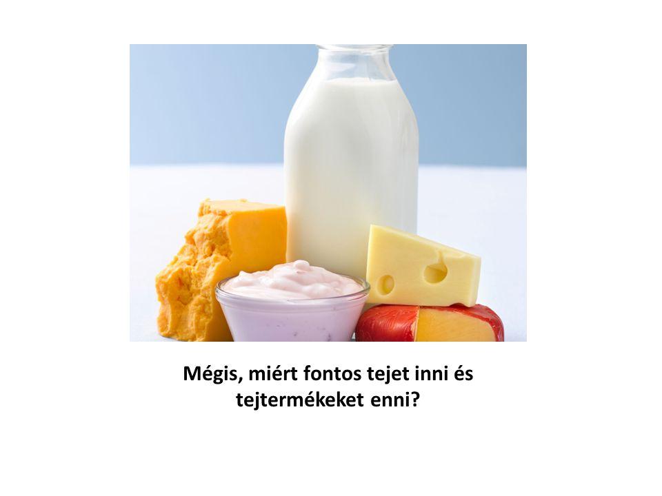 Mégis, miért fontos tejet inni és tejtermékeket enni?