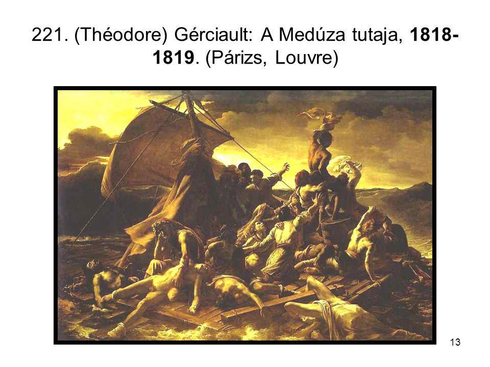 13 221. (Théodore) Gérciault: A Medúza tutaja, 1818- 1819. (Párizs, Louvre)