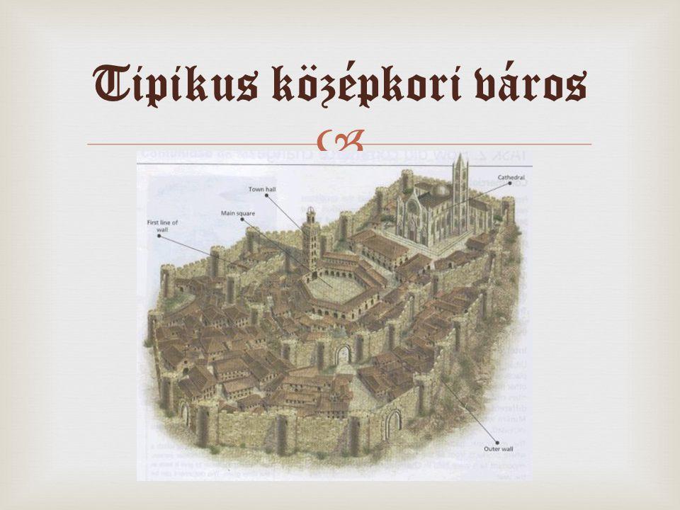  Tipikus középkori város