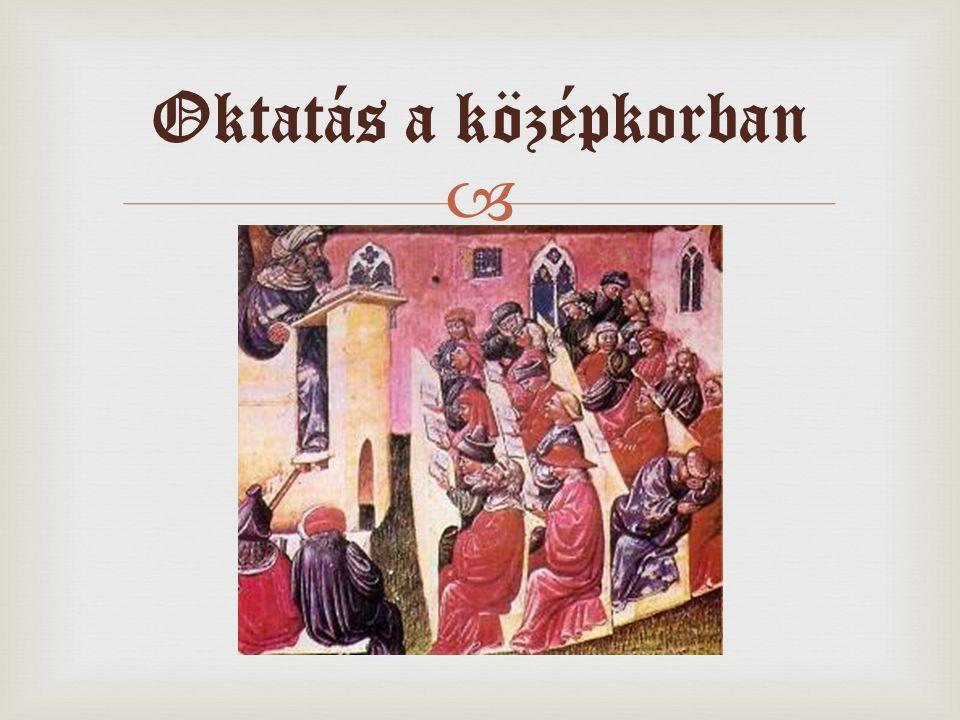  Oktatás a középkorban