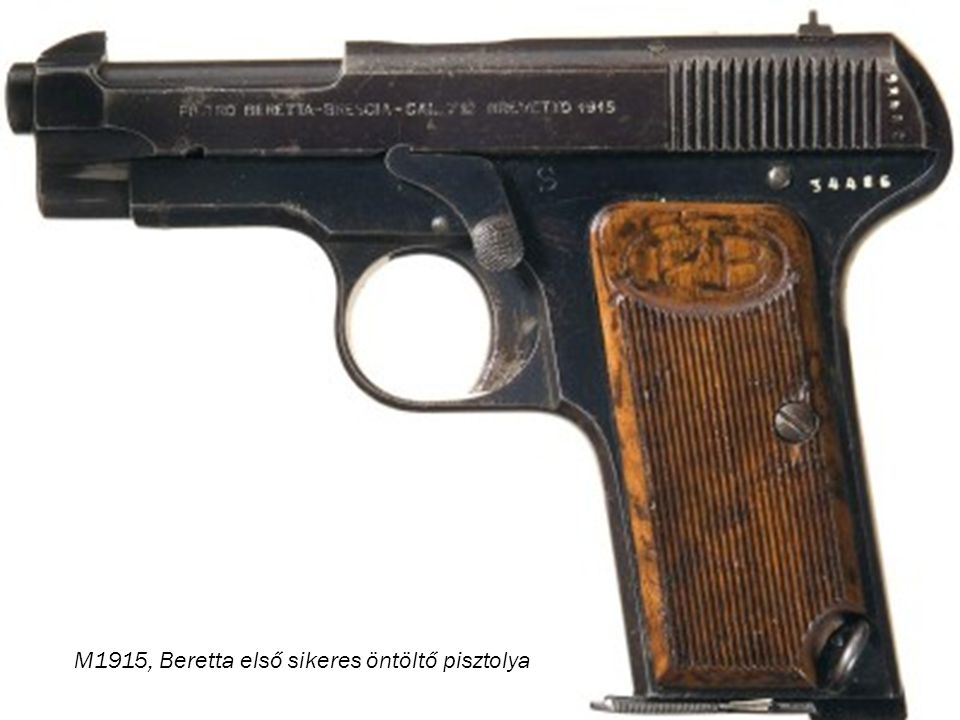 M1915, Beretta első sikeres öntöltő pisztolya
