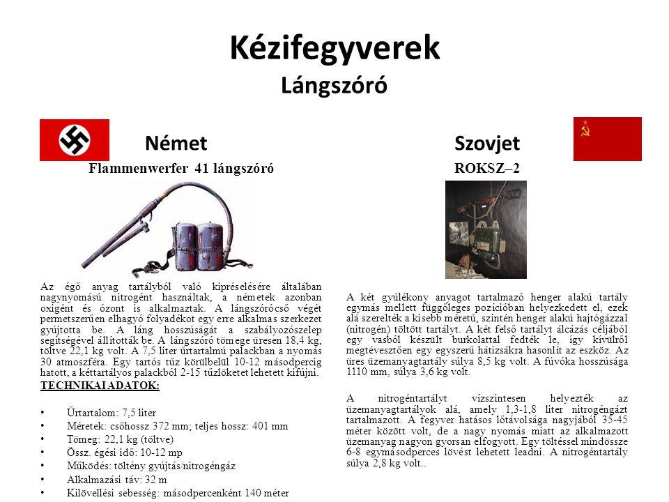Kézifegyverek Gépkarabély Német MKb42 karabély A fegyverek a MKb (Maschinen Karabiner gépkarabély) megnevezést kapták.