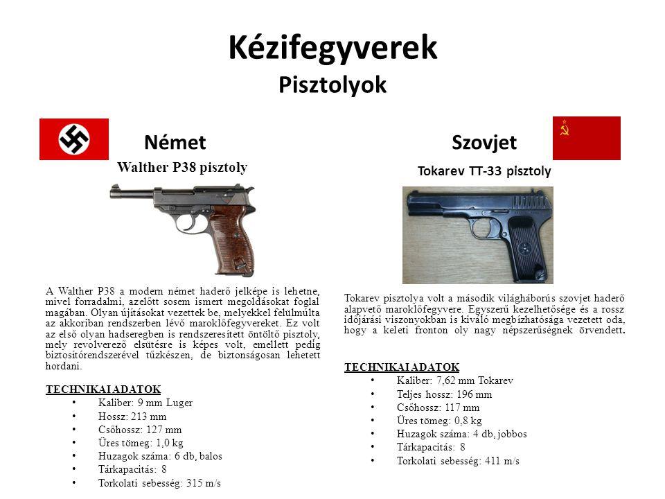 Kézifegyverek Pisztolyok Német Walther P38 pisztoly A Walther P38 a modern német haderő jelképe is lehetne, mivel forradalmi, azelőtt sosem ismert meg
