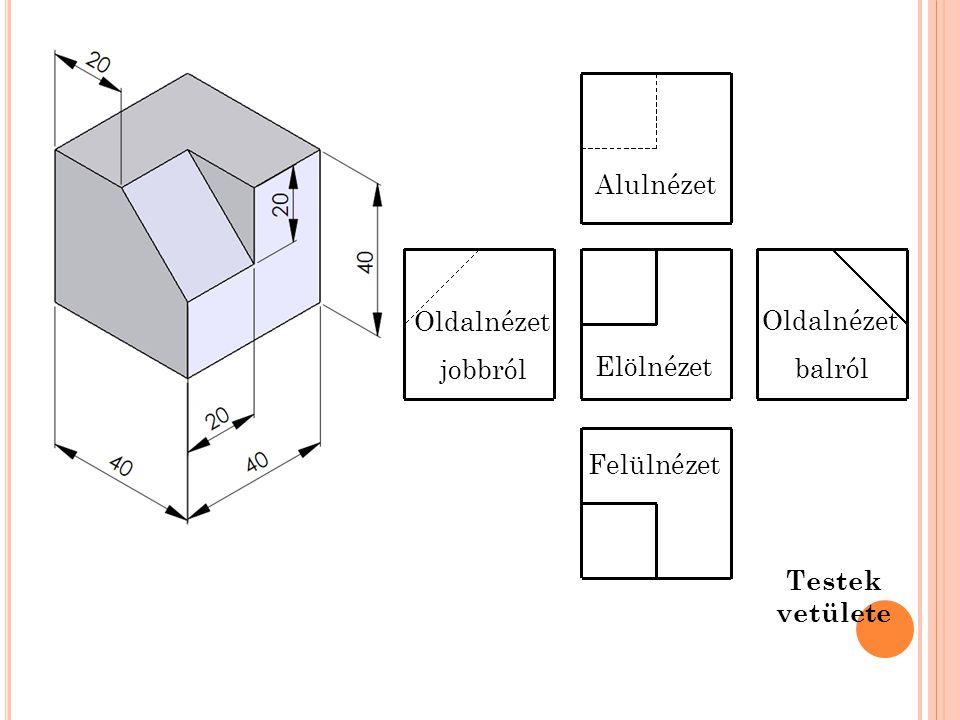 Felülnézet Oldalnézet balról Elölnézet Alulnézet Oldalnézet jobbról