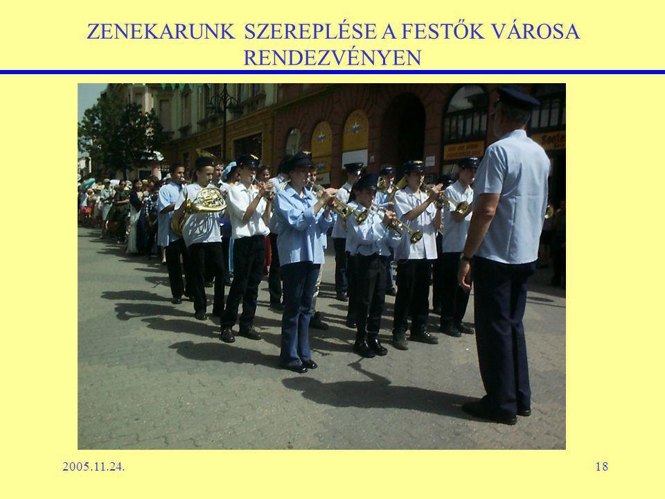 2005.11.24.18 ZENEKARUNK SZEREPLÉSE A FESTŐK VÁROSA RENDEZVÉNYEN