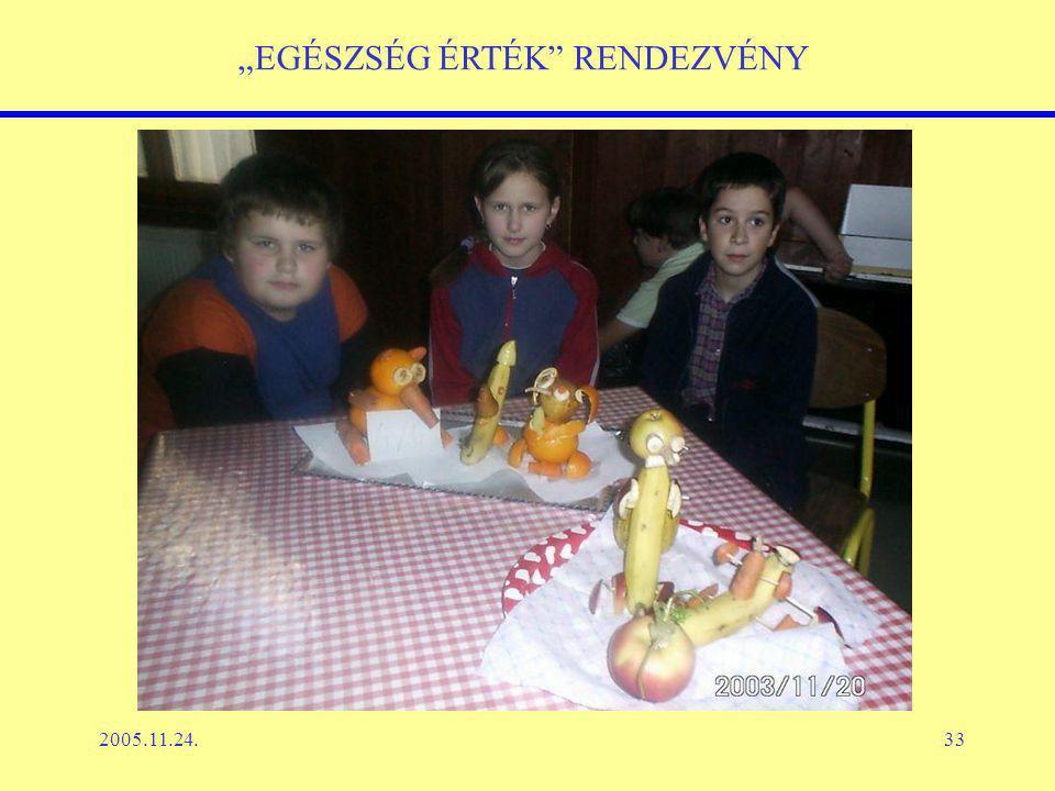 """2005.11.24.33 """"EGÉSZSÉG ÉRTÉK RENDEZVÉNY"""