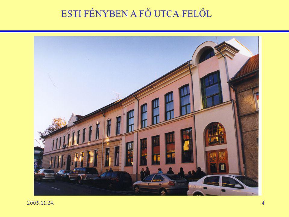 2005.11.24.4 ESTI FÉNYBEN A FŐ UTCA FELŐL