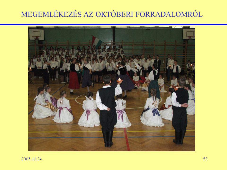2005.11.24.53 MEGEMLÉKEZÉS AZ OKTÓBERI FORRADALOMRÓL