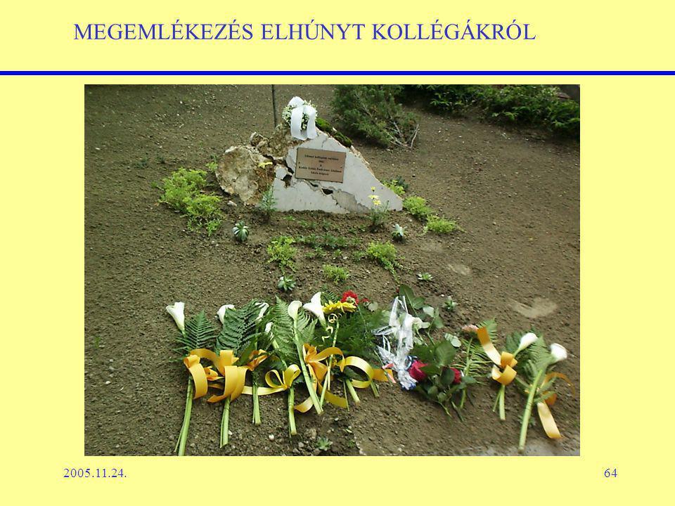 2005.11.24.64 MEGEMLÉKEZÉS ELHÚNYT KOLLÉGÁKRÓL