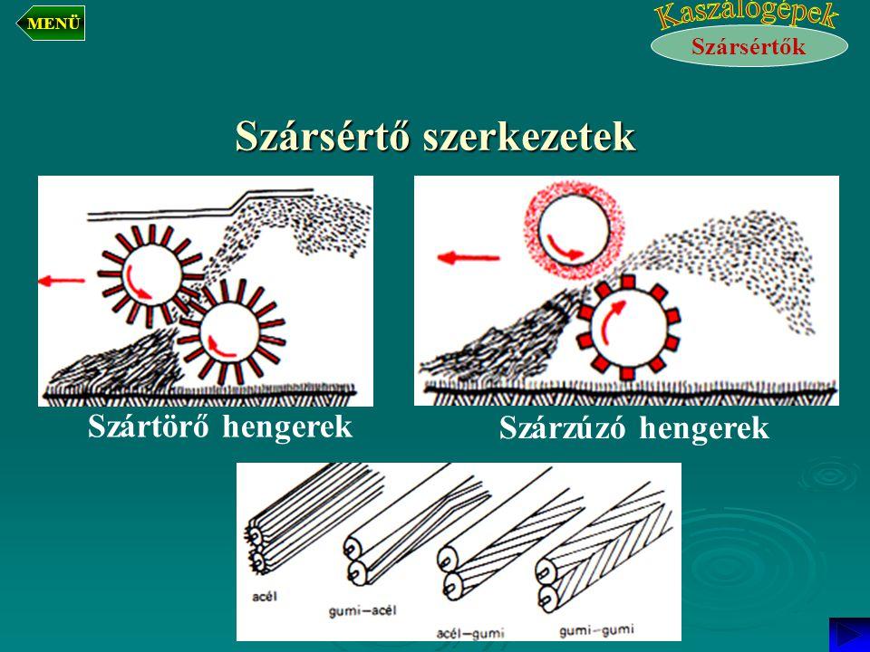 Szársértő szerkezetek Szárzúzó hengerek Szártörő hengerek Szársértők MENÜ