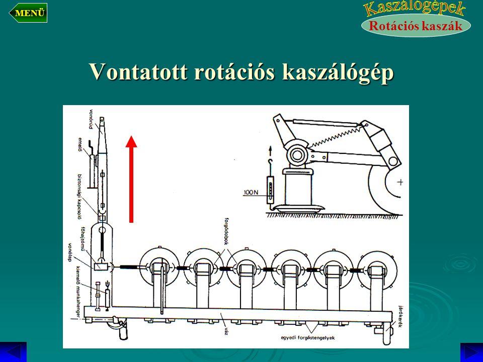 Vontatott rotációs kaszálógép Rotációs kaszák MENÜ