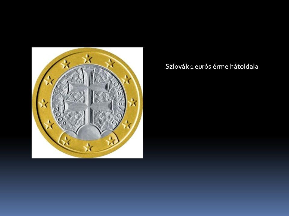 Szlovák 1 eurós érme hátoldala