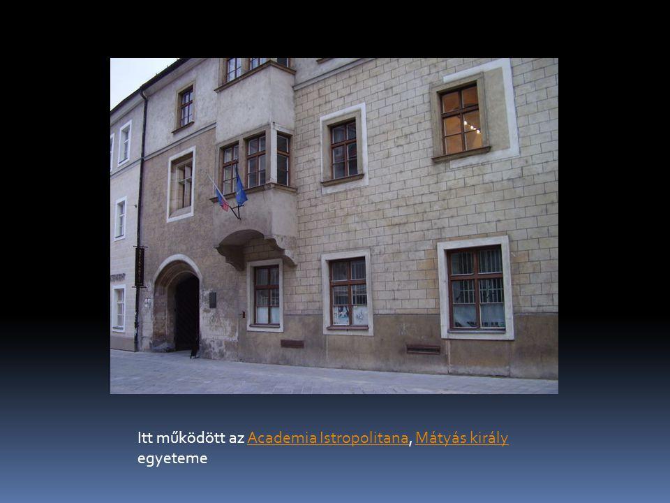 Itt működött az Academia Istropolitana, Mátyás király egyetemeAcademia IstropolitanaMátyás király