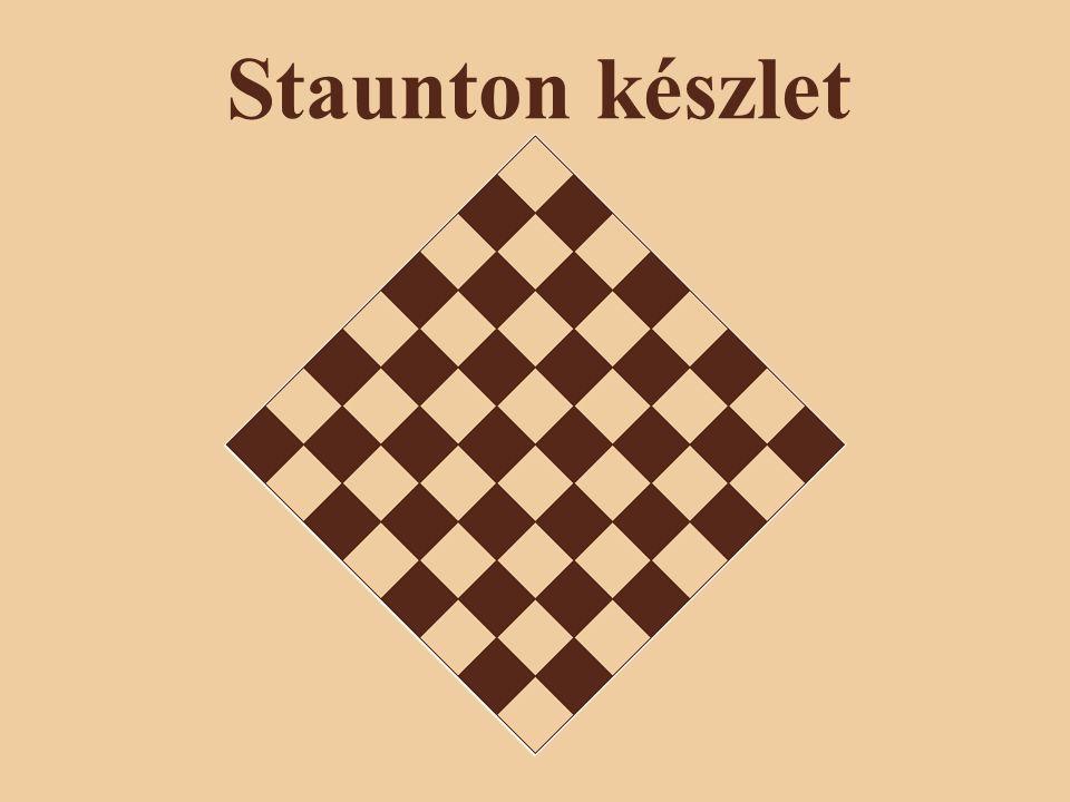 A készlet története A Staunton sakk-készlet a sakk hivatalos versenyein használt sztenderd sakkfigurakészlet.Staunton 1849.