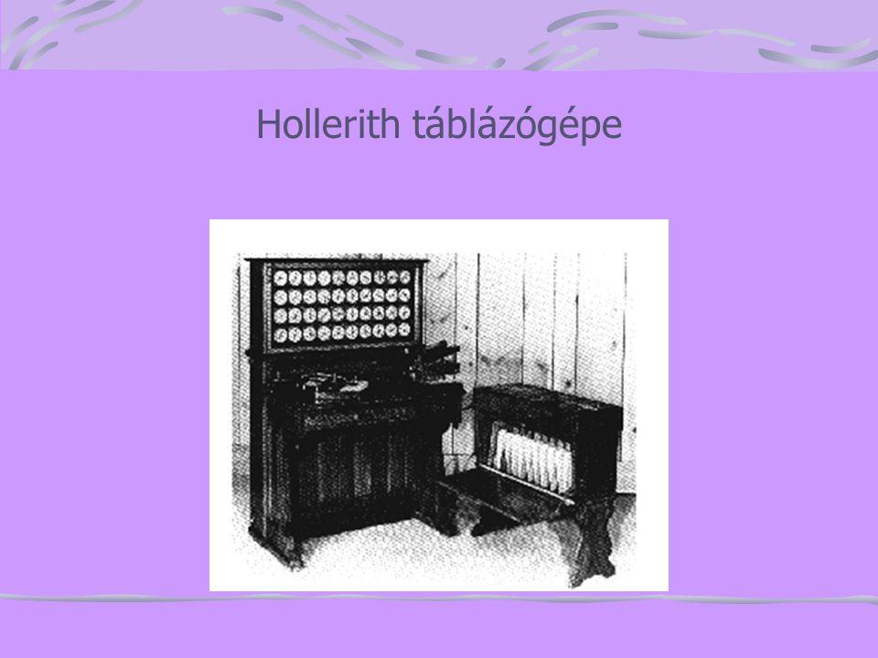 Hollerith táblázógépe