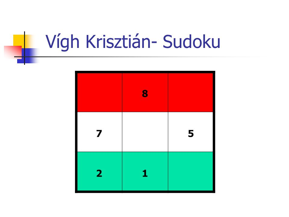 Vígh Krisztián- Sudoku 8 75 21