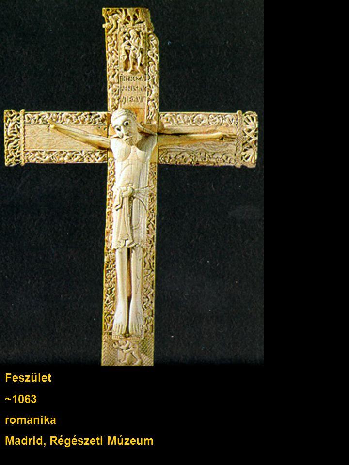 Feszület ~1063 romanika Madrid, Régészeti Múzeum