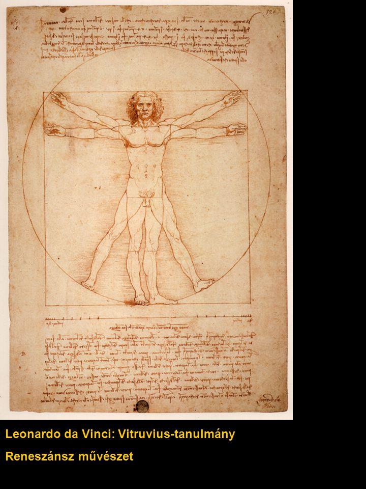 Leonardo da Vinci: Vitruvius-tanulmány Reneszánsz művészet