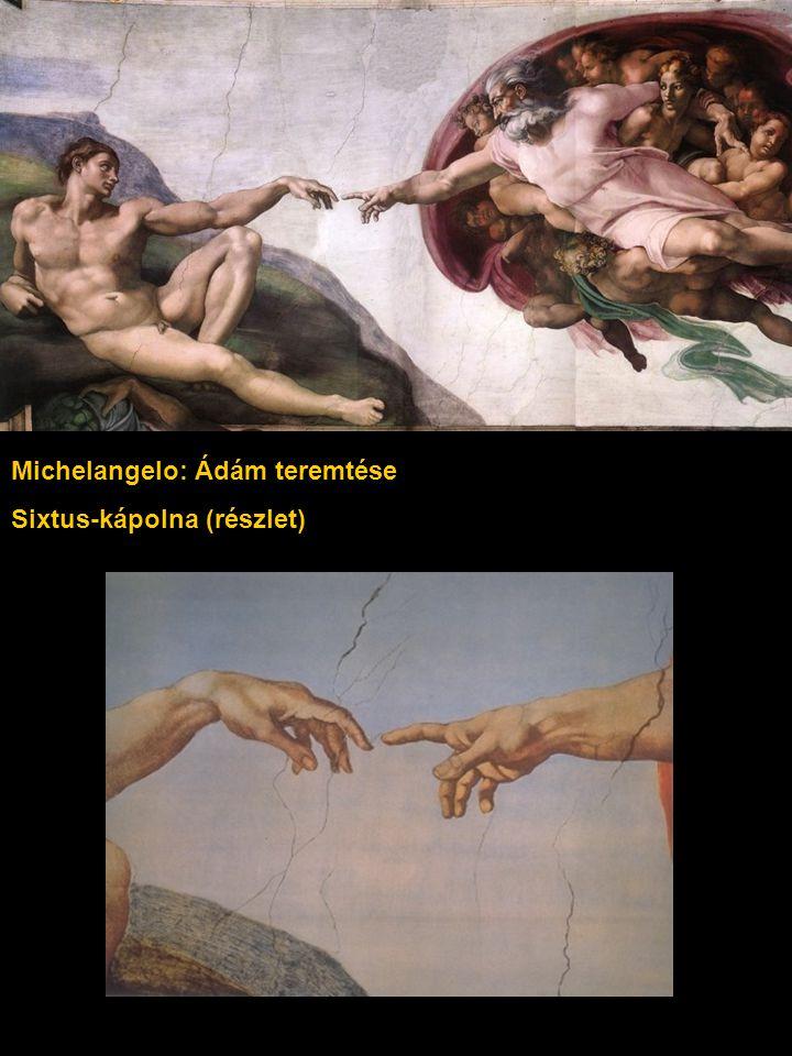 Michelangelo: Ádám teremtése Sixtus-kápolna (részlet)