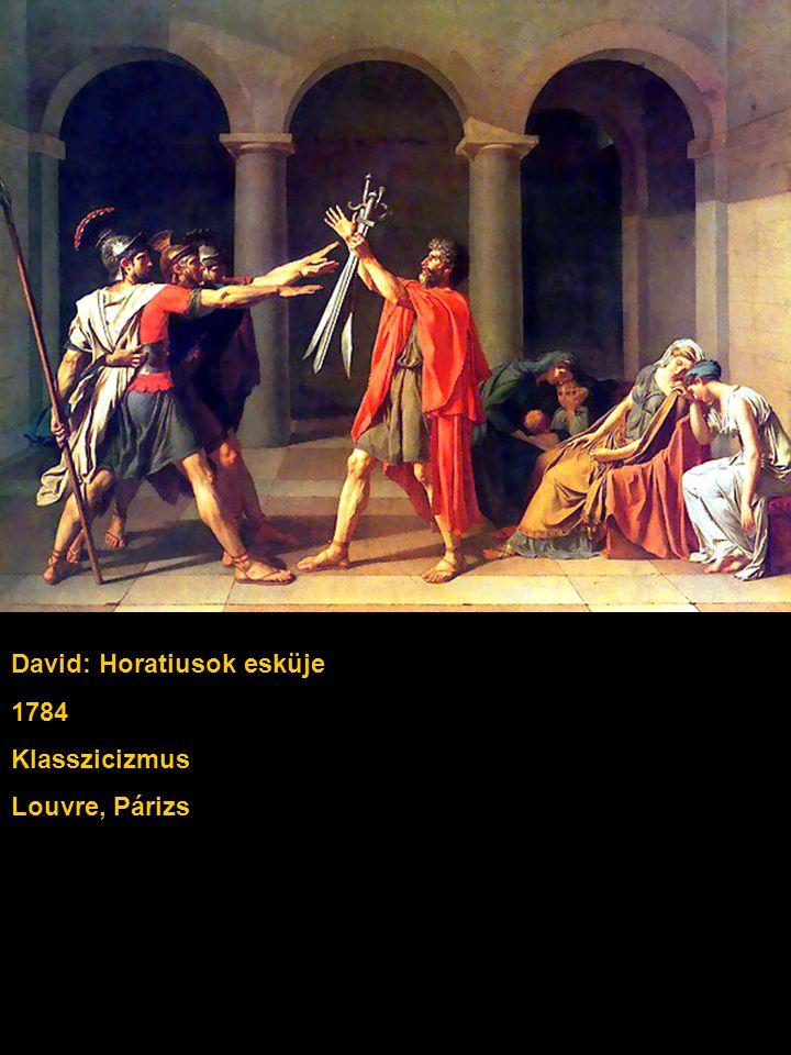 David: Horatiusok esküje 1784 Klasszicizmus Louvre, Párizs