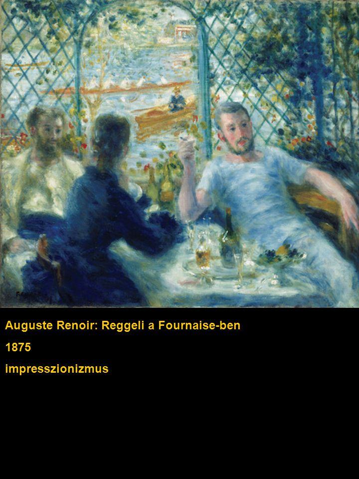 Auguste Renoir: Reggeli a Fournaise-ben 1875 impresszionizmus