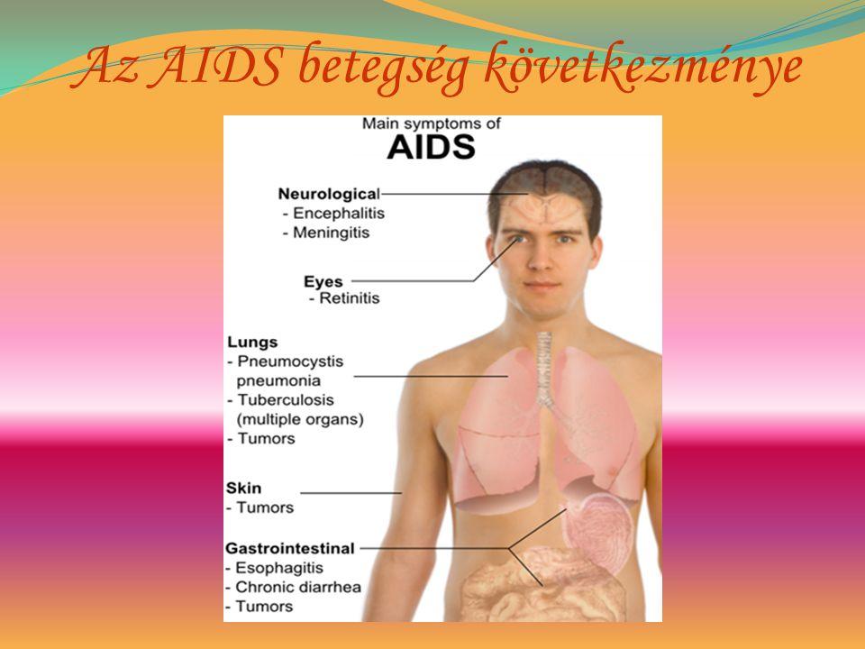 Az AIDS betegség következménye