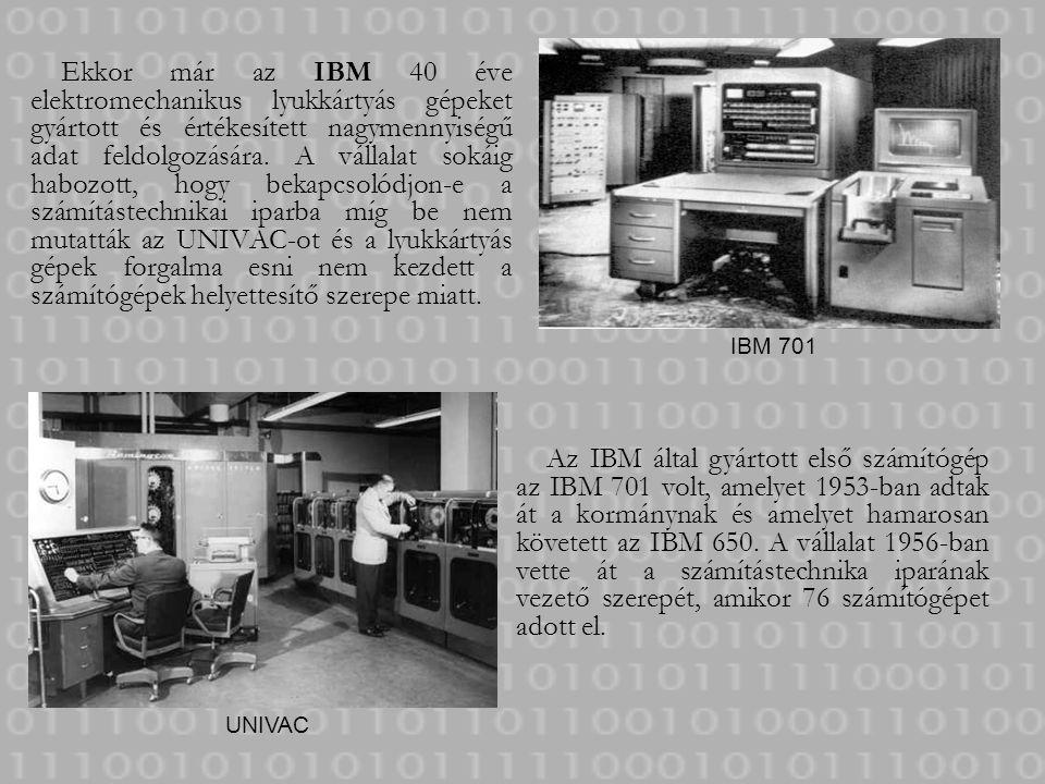 Ekkor már az IBM 40 éve elektromechanikus lyukkártyás gépeket gyártott és értékesített nagymennyiségű adat feldolgozására. A vállalat sokáig habozott,