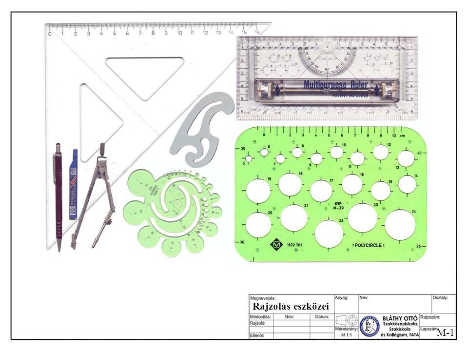 M-10 Testek vetülete Egy kocka, amiből kivágtak egy darabot. Baloldali oldalnézet