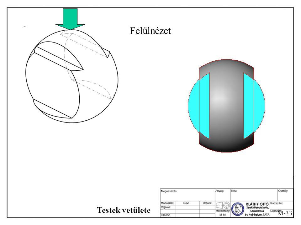 M-32 Testek vetülete Baloldali oldalnézet