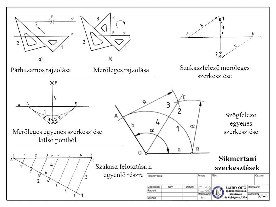 M-3 Az alkalmazott vonaltípusok