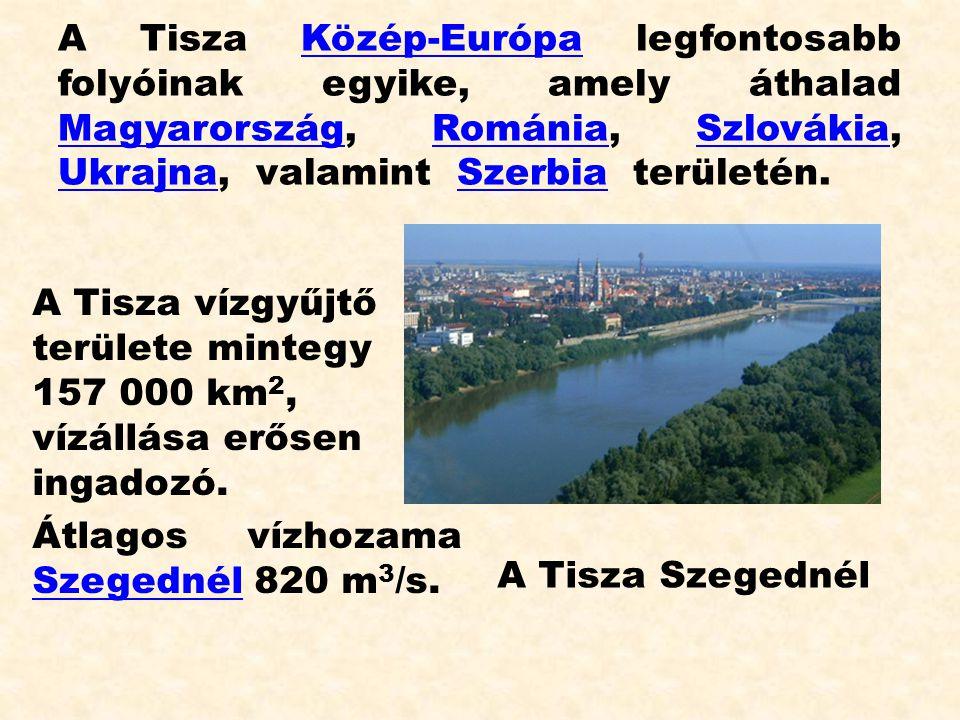 A Tisza Közép-Európa legfontosabb folyóinak egyike, amely áthalad Magyarország, Románia, Szlovákia, Ukrajna, valamint Szerbia területén.Közép-Európa M