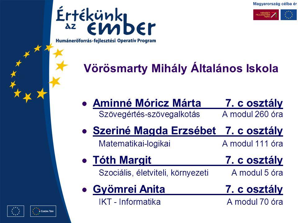 Vörösmarty Mihály Általános Iskola Aminné Móricz Márta7.
