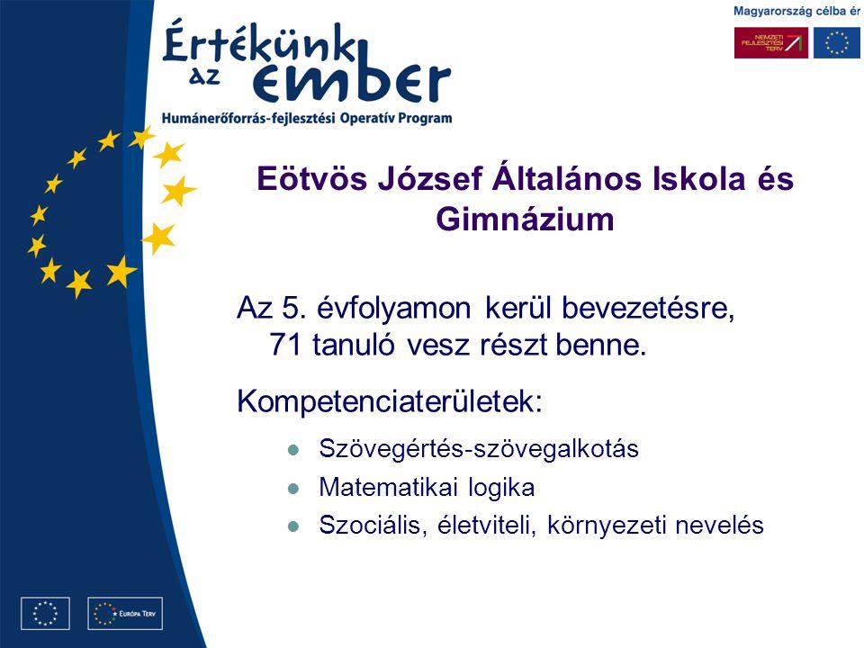 Eötvös József Általános Iskola és Gimnázium Az 5.