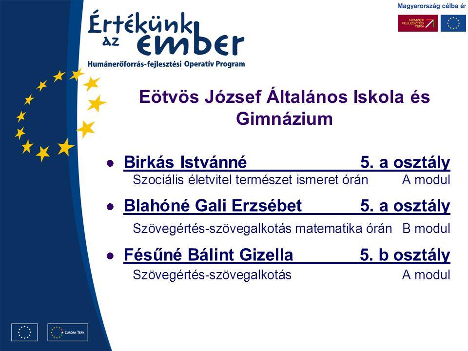 Eötvös József Általános Iskola és Gimnázium Birkás Istvánné5.