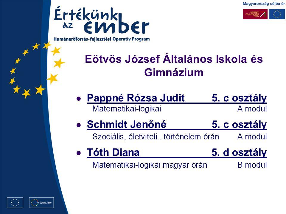 Eötvös József Általános Iskola és Gimnázium Pappné Rózsa Judit5.