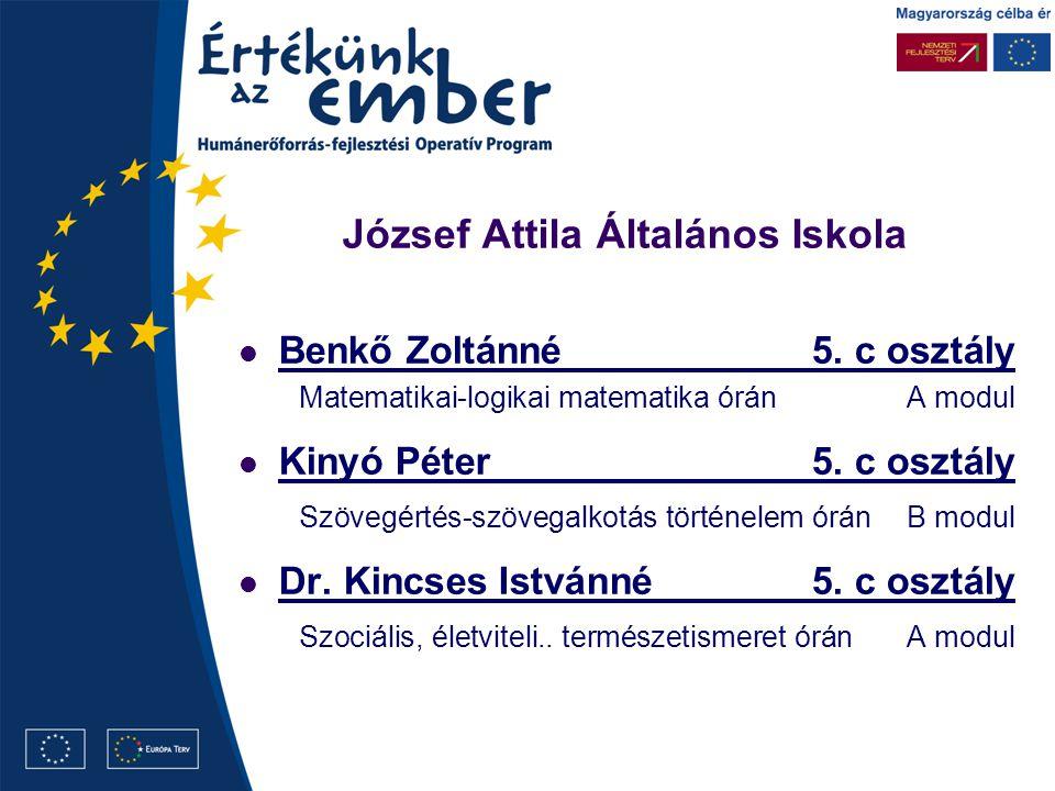 József Attila Általános Iskola Benkő Zoltánné5.