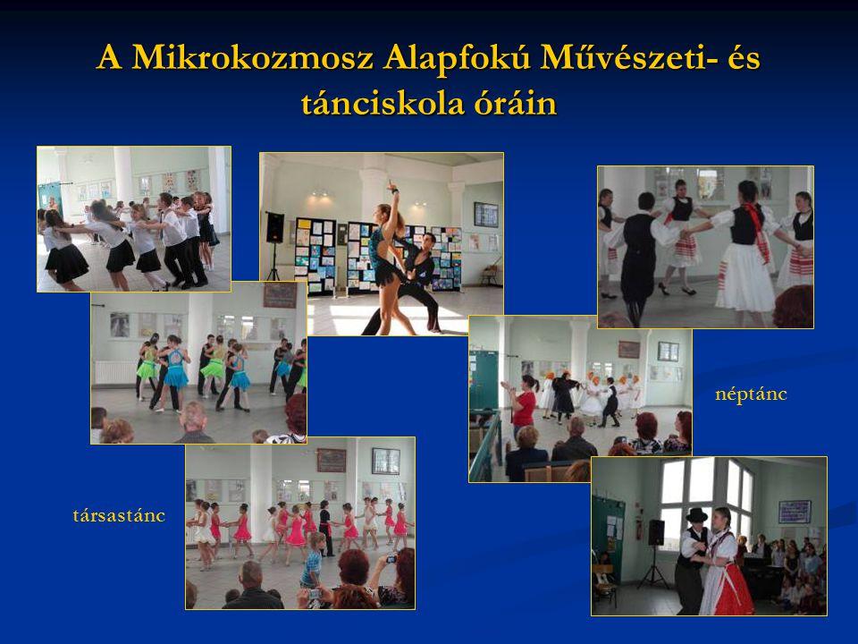 A Mikrokozmosz Alapfokú Művészeti- és tánciskola óráin néptánc társastánc