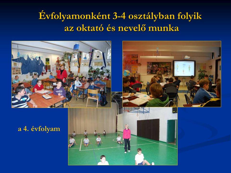 Évfolyamonként 3-4 osztályban folyik az oktató és nevelő munka a 4. évfolyam