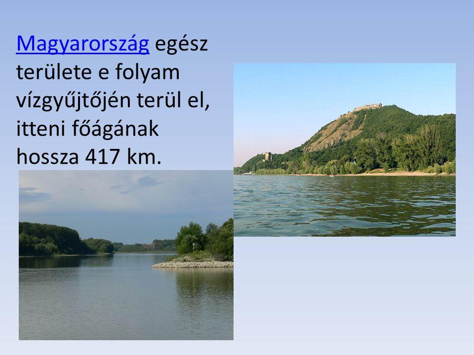 MagyarországMagyarország egész területe e folyam vízgyűjtőjén terül el, itteni főágának hossza 417 km.