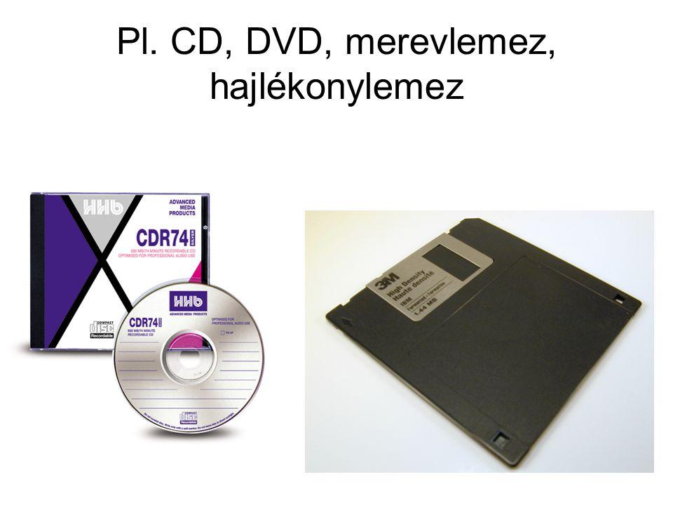 Pl. CD, DVD, merevlemez, hajlékonylemez