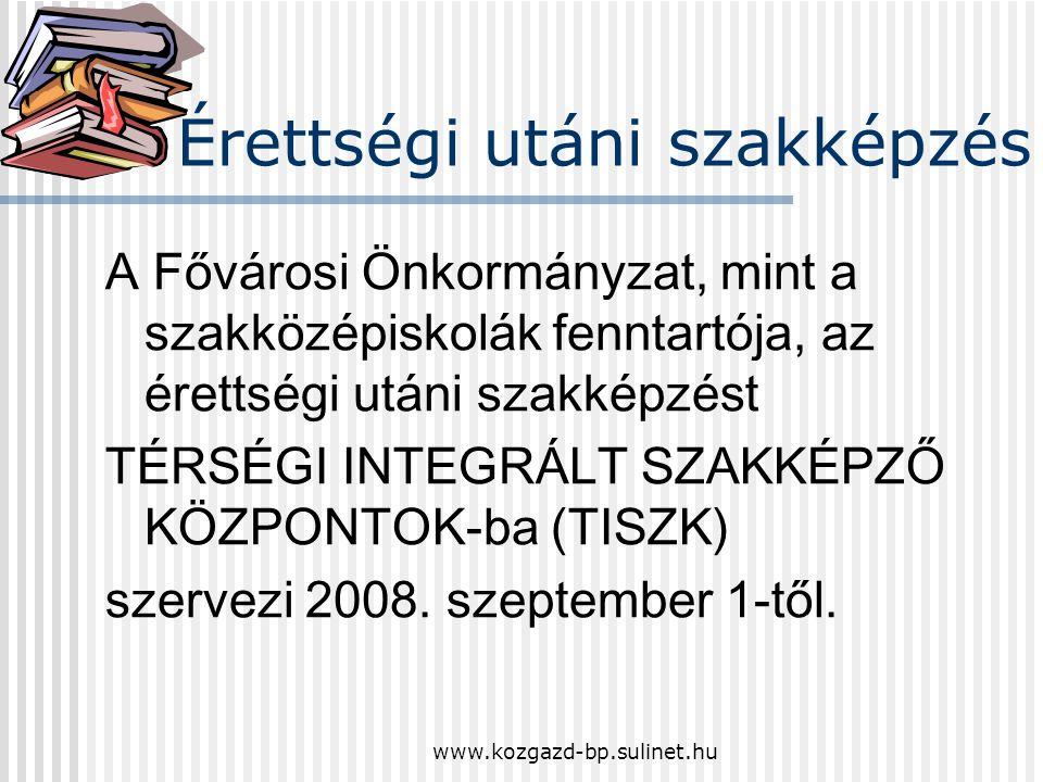 www.kozgazd-bp.sulinet.hu Szakközépiskolai képzés Leendő tanulóink a gazdasági-szolgáltatási szakterületen: informatikai közgazdasági kereskedelem-mar
