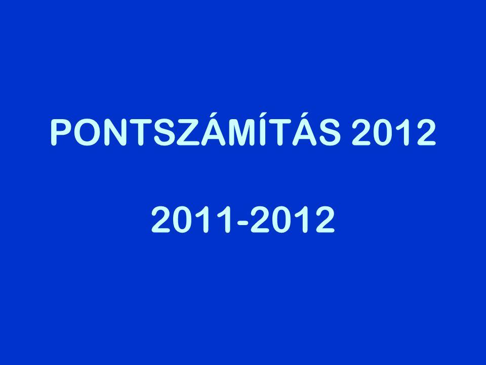 –Általános tudnivalók –Tanulmányi pontok –Érettségi pontok –Többletpontok