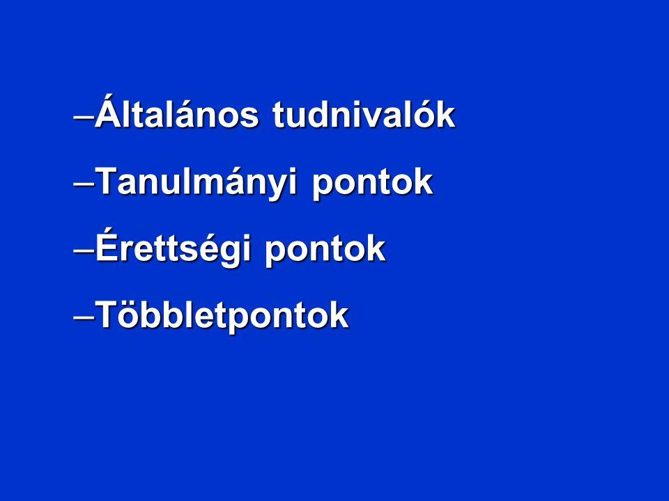Többletpontok III.Nyelvvizsga II.