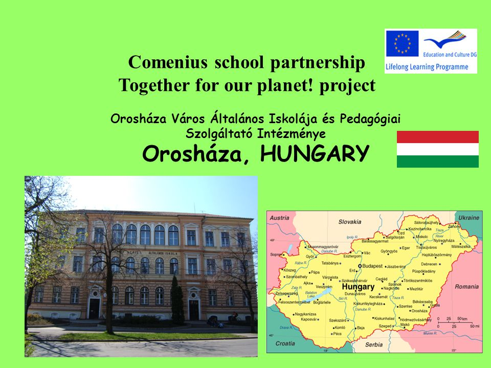 Comenius school partnership Together for our planet.