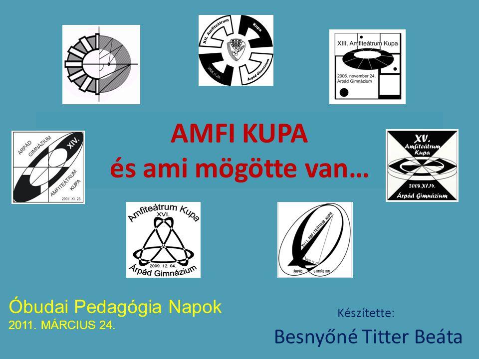 AMFI KUPA és ami mögötte van… Készítette: Besnyőné Titter Beáta Óbudai Pedagógia Napok 2011. MÁRCIUS 24.