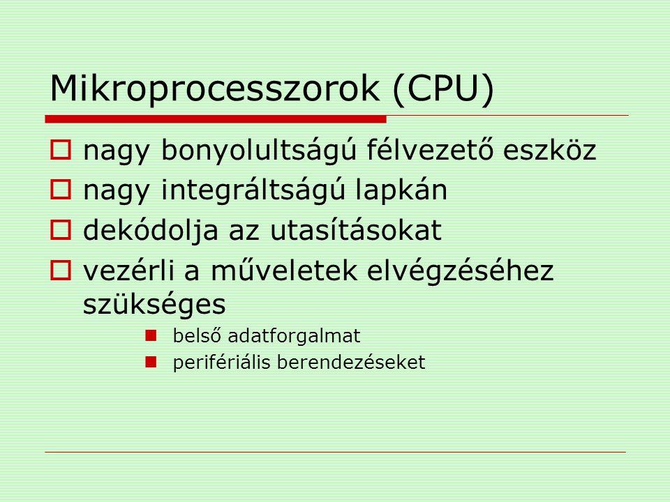 Mikroprocesszorok (CPU)  foglalatok (intel) Socket 5 320 láb Socket 7 321 láb Socket 370 Socket 423 Socket 478 Socket T (LGA775)