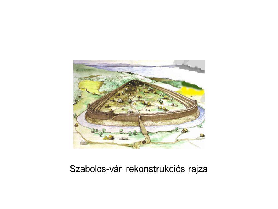 Szabolcs-vár rekonstrukciós rajza